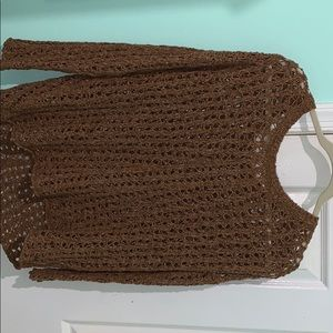 Brown American Eagle knitted sweater.